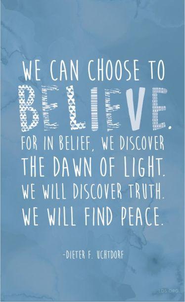 choose belief