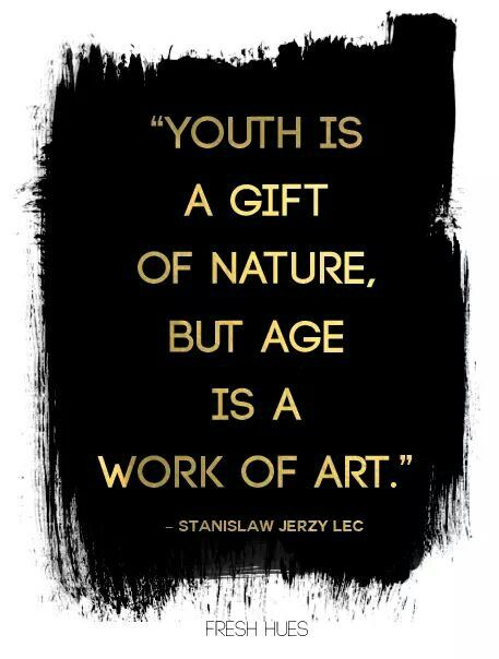 age is a work of art