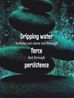 water wears