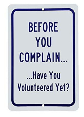 complain volunteer