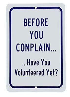complain volunteer