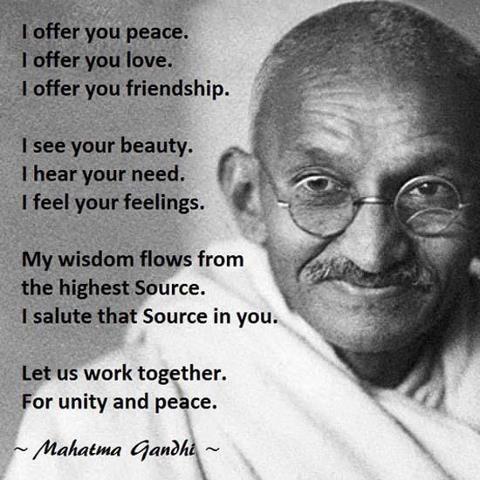 gandhi peace
