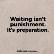 waiting isnt punishment