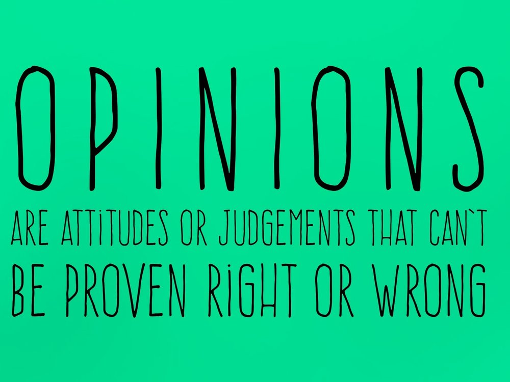 What_is_an_opinion_