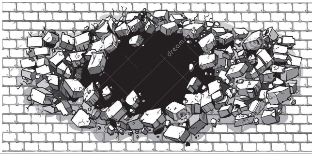 hole-breaking-wide-brick-wall-vector-cartoon-clip-art-illustration-cinder-block-exploding-out-rubble-62827353