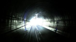 train in tunnel