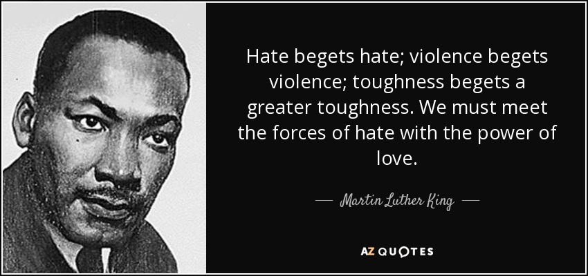 Hate-begets-hate violence-begets-violence-toughness-begets-a-greater-toughness.-We-must-meet-the-forces-of-hate...-Martin-Luther-KIng
