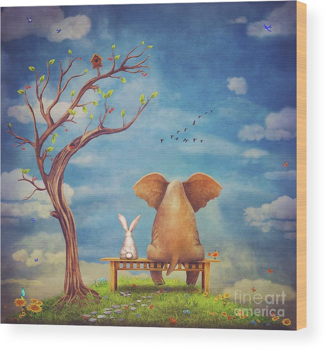 elephant-and-rabbit-sit-on-a-bench-on-the-glade-natalia-moroz