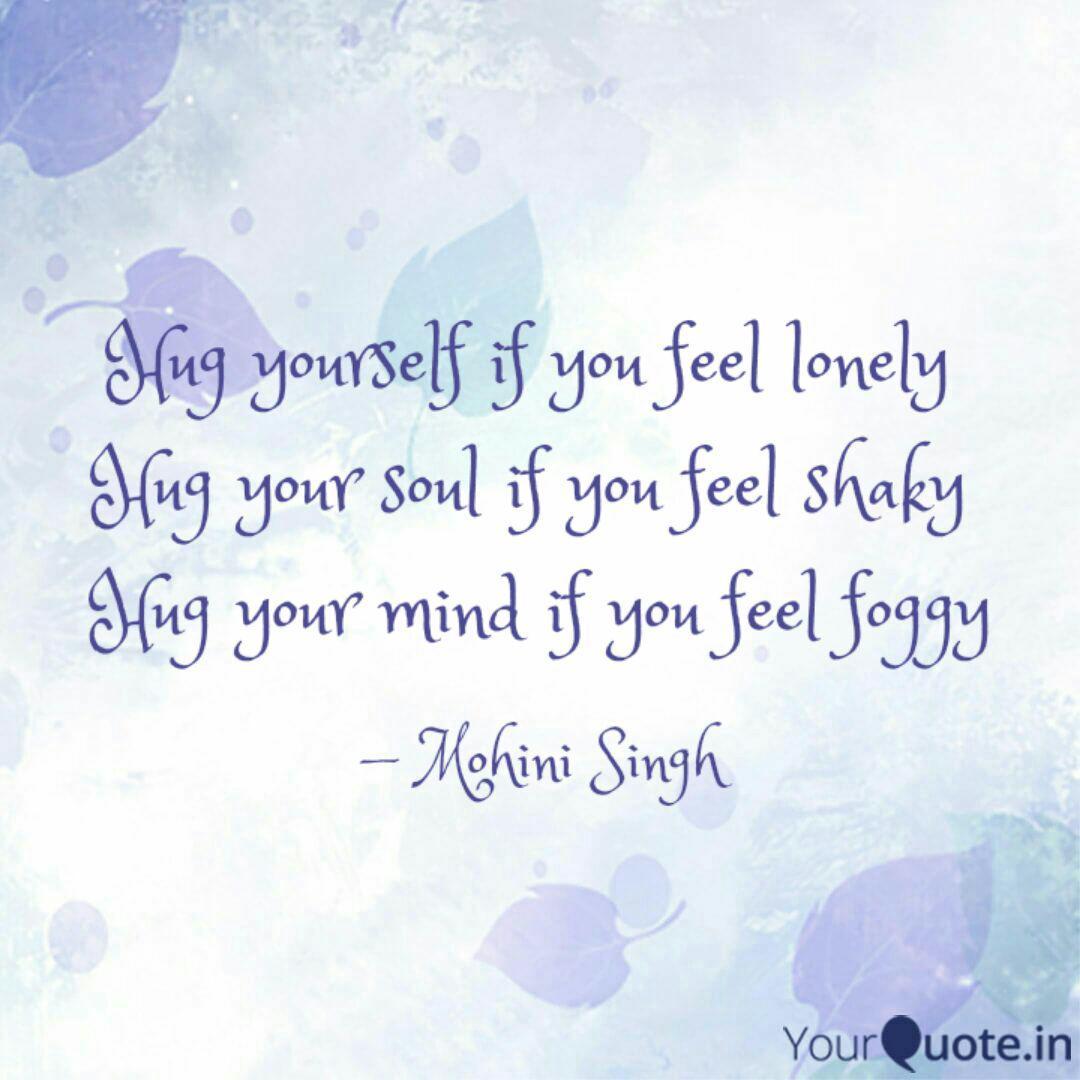 hug yourself quote