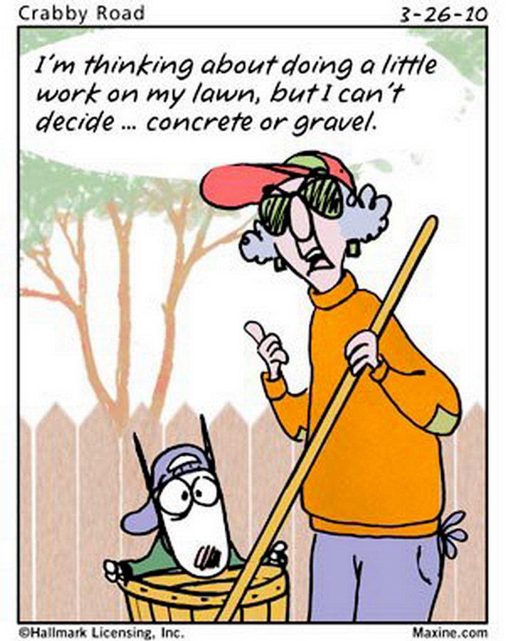 yard work funny