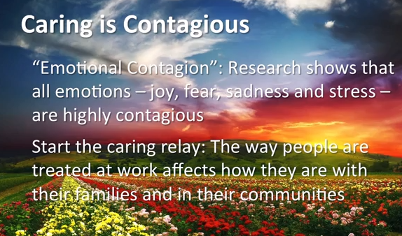 caring is contagious